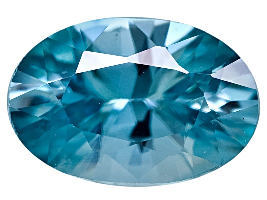 Cambodian Blue Zircon Average .60ct 6x4mm Oval Diamond Cut