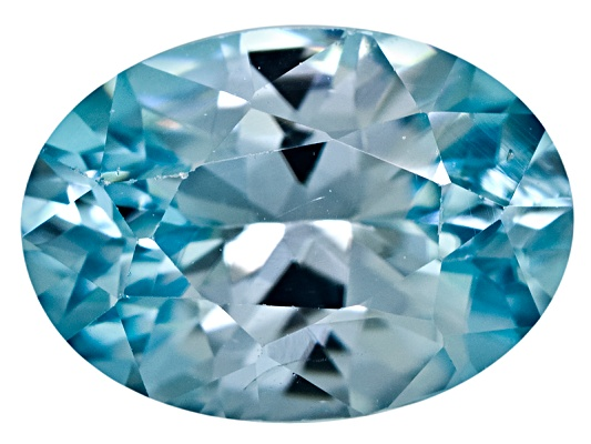 Cambodian Blue Zircon Average 1.00ct 7x5mm Oval Diamond Cut