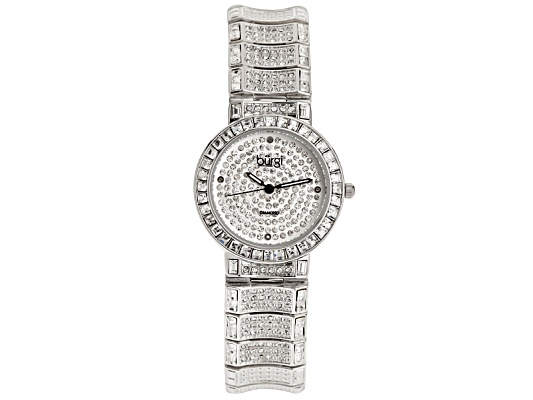 Burgi Ladies Crystal Brass Watch