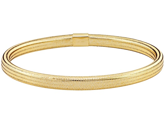 Splendido Oro(Tm) Sillace(Tm) Buone Feste Yellow Bangle Bracelet Made In Italy