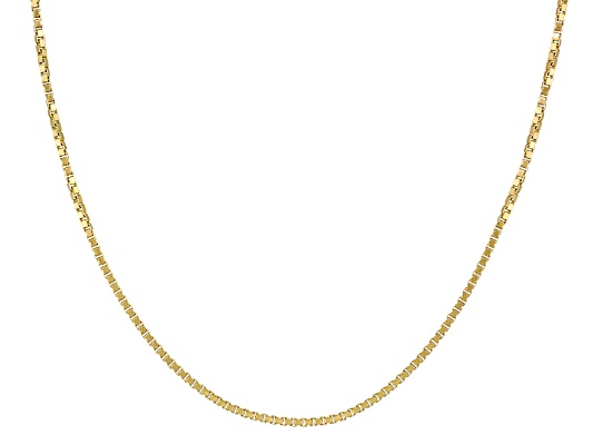 Argentovoge(Tm) Diamond Cut 18k Yellow Gold Over Sterling Silver Adjustable Necklace Made In Italy