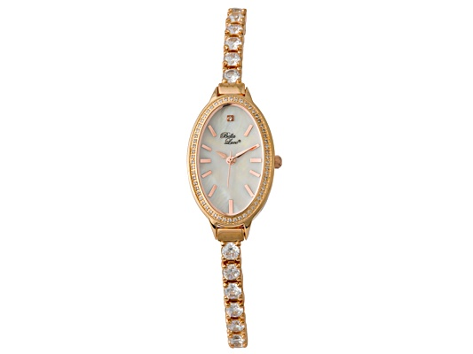 Bella Luce(R) 15.75ctw Diamond Simulant Ip Rose Gold Plated Over Brass Watch