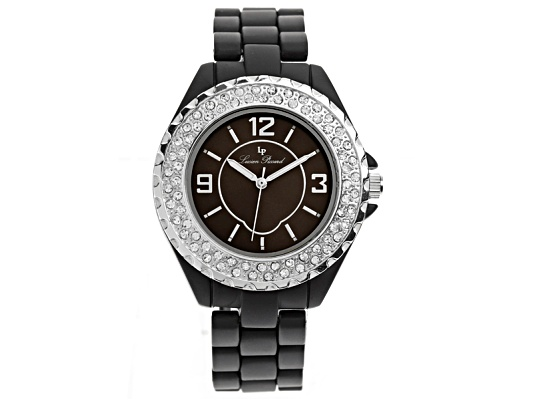 Lucien Piccard Ladies Crystal Black Watch