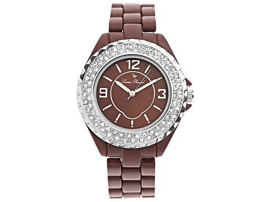 Lucien Piccard Ladies Crystal Brown Watch