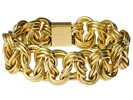 Splendido Oro(Tm) Sillace(Tm) Florence Ricami Yellow Stretch Bracelet Made In Italy Eav
