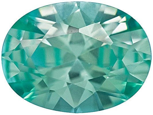Blue-green Yag Average 1.50ct 8x6mm Oval Diamond Cut