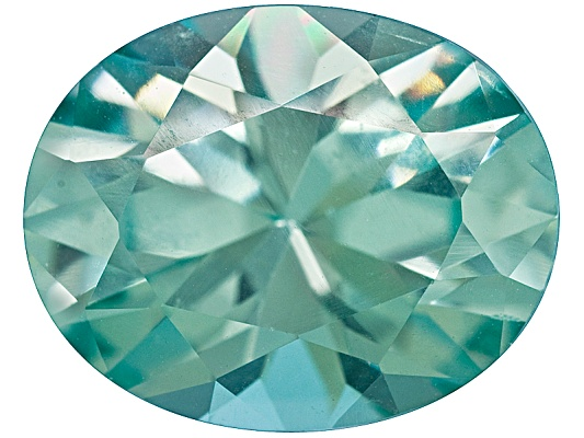 Blue Green Yag Average 3.50ct 10x8mm Oval Diamond Cut