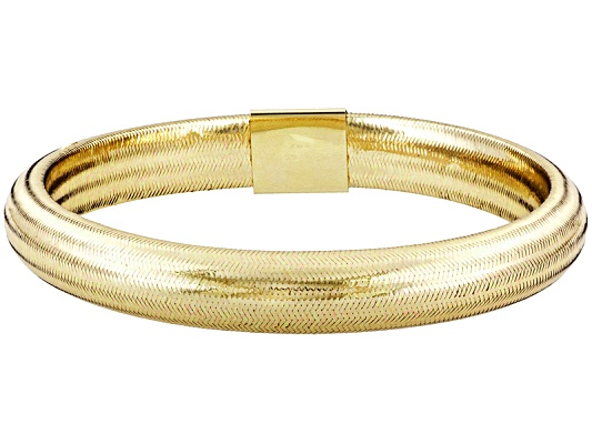 Splendido Oro(Tm) Sillace(Tm) Fiesta Yellow 8 Inch Bangle Bracelet Made In Italy Eav $225.00