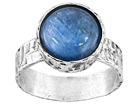 Artisan Collection Of Israel, Round Cabochon Kyanite S/S Ring Erv $92.00