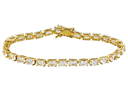Stratify(Tm) 10.60ctw Oval Scapolite 18k Yellow Gold Over Sterling Silver Bracelet Erv $327.00