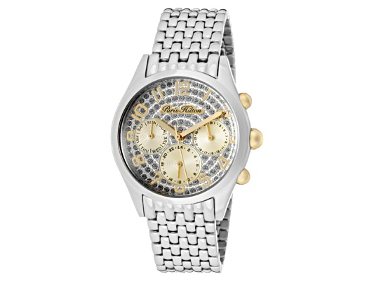 Paris Hilton Women's Beverly Silver Glitter Dial Stainless Steel