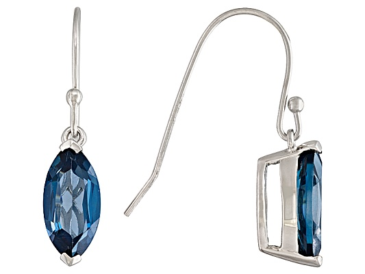 Barehipani Topaz (Tm) 4.40ctw Marquise Sterling Silver Solitaire Dangle Earrings