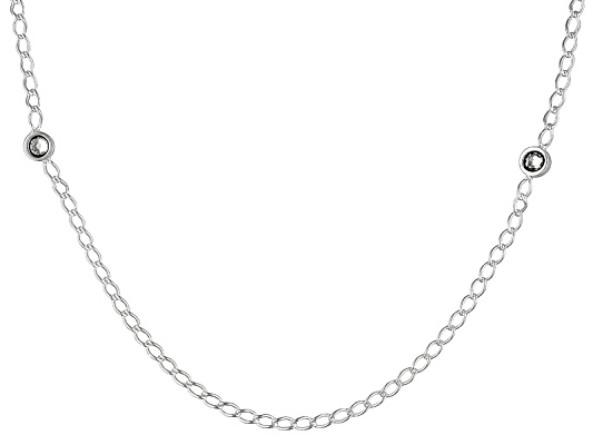 Argentovoge(Tm) Open Cable Link With Bella Luce(R) Stations 24 Inch Necklace Made In Italy
