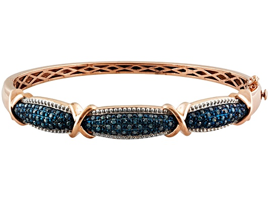Park Avenue(Tm) 1.10ctw Blue Velvet Diamond(Tm) 18k Rose Gold Over Sterling Bracelet Eav $700.00