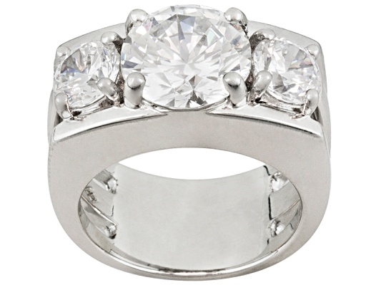Jose Hess For Bella Luce R 9 44ctw Rhodium Plated Sterling Silver