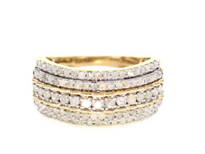 White Diamond Ring 10k Yellow Gold 1.00ctw