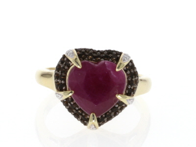 Red Ruby 18k Gold Over Silver Ring 5.67ctw