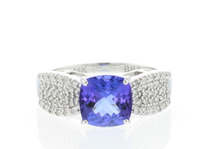 Blue Tanzanite Rhodium Over 14k White Gold Ring 2.64ctw