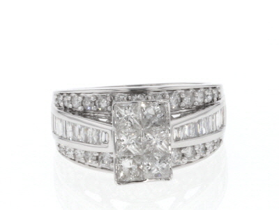 Diamond 14k White Gold Ring 2.00ctw