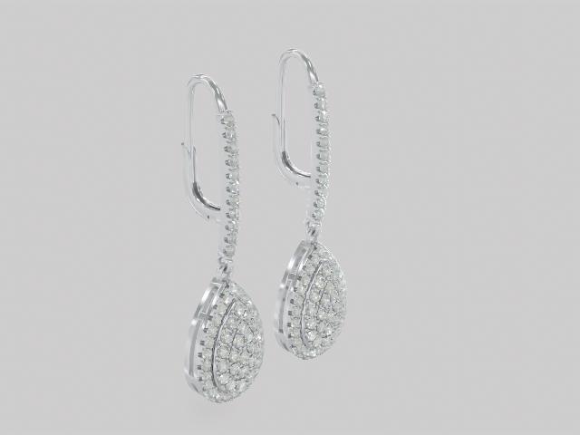 White Zircon Rhodium Over Sterling Silver Earrings 2.10ctw