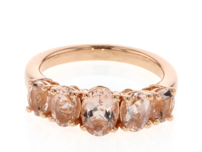 Pink Morganite 18k Rose Gold Over Sterling Silver Ring 1.82ctw