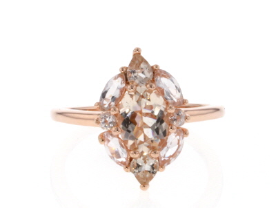 Pink Morganite 18k Rose Gold Over Sterling Silver Ring 1.64ctw