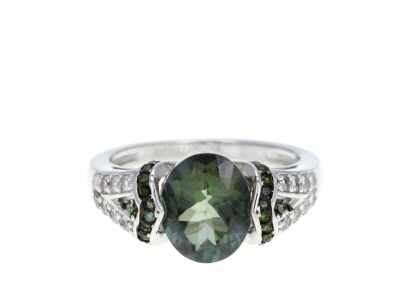 Green Labradorite Sterling Silver Ring 2.39ctw