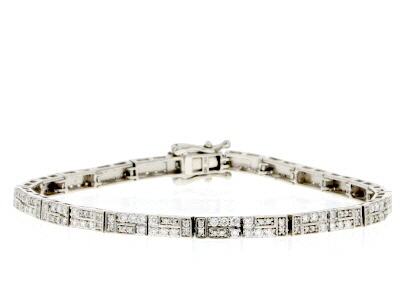 White Lab-Grown Diamond 14K White Gold Bracelet 2.01ctw