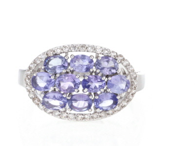 Blue Tanzanite Silver Ring 2.36ctw