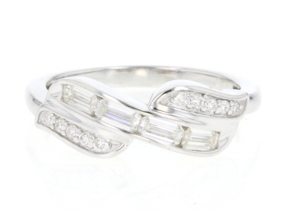 Moissanite Platineve™ ring .50ctw DEW