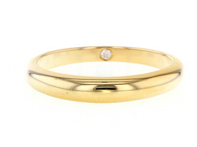 Moissanite 14k Yellow Gold Over Silver Band .02ct DEW