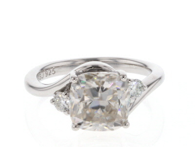 Moissanite Platineve Ring 3.50ctw DEW
