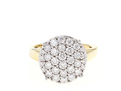 Moissanite 14k Yellow Gold Over Silver Ring 1.20ctw DEW.