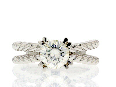 Moissanite Platineve ring 1.20ct DEW.