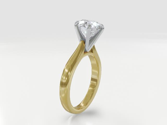 Moissanite Fire® 2.70ct Diamond Equivalent Weight Round 14k Yellow Gold Over Sterling Silver Ring