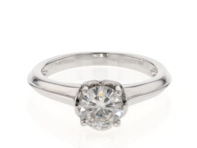 Moissanite Ring Platineve™ 1.00ct DEW