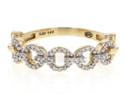 White Diamond 14k Yellow Gold Ring .20ctw