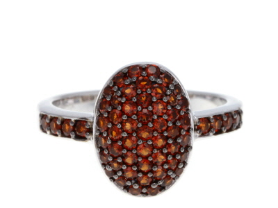 red garnet sterling silver ring 1.15ctw