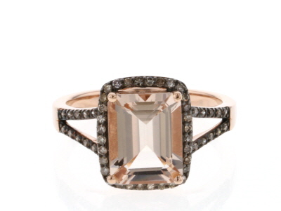 Pink Morganite 10k Rose Gold Ring 1.45ctw