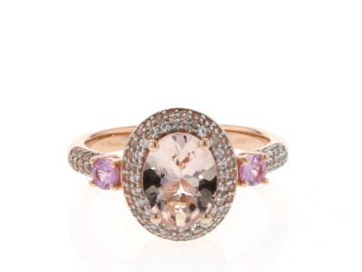 Pink Morganite 10k Rose Gold Ring 1.98ctw