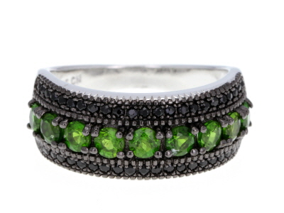 Green Chrome Diopside Sterling Silver Ring 1.45ctw