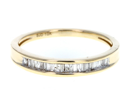 white diamond 10k yellow gold ring .20ctw