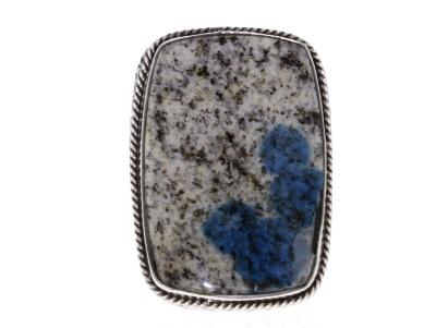 Multicolor Azurite In Granite Silver Ring