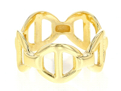 18K Yellow Gold Over Sterling Silver Valentino Ring