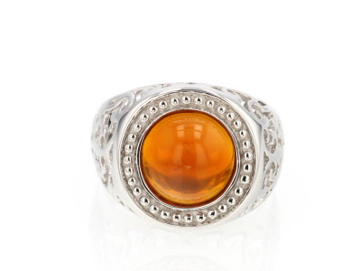 Orange Oregon Fire Opal Sterling Silver Ring 2.49ct