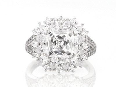 White Cubic Zirconia Platineve Ring 8.58ctw