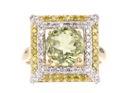 Green Turkish Diaspore 14k Yellow Gold Ring 3.31ctw