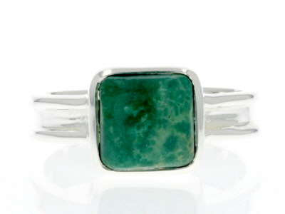 Turquoise Green Kingman Silver Ring