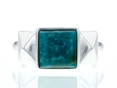 Turquoise Blue Kingman Silver Ring