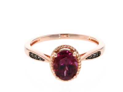 Pink blush color garnet 18k gold over silver ring 1.52ctw